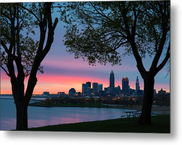 Cleveland At Dawn Metal Print