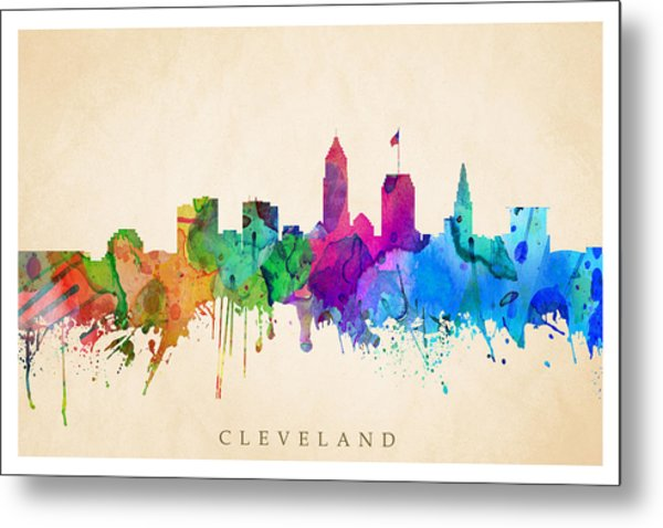 Cleveland Cityscape Metal Print
