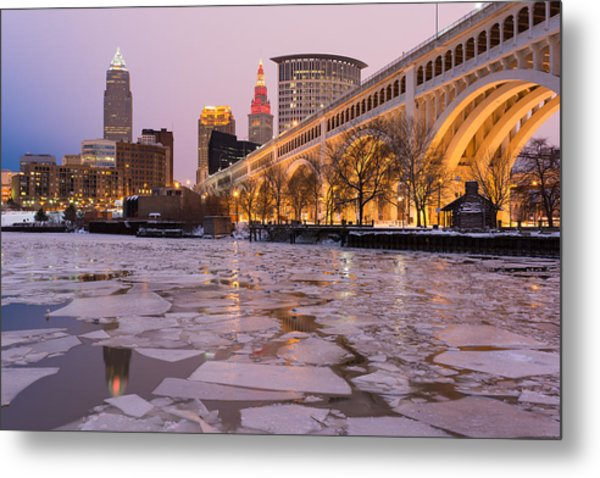 Cleveland Ice Chips Skyline Metal Print