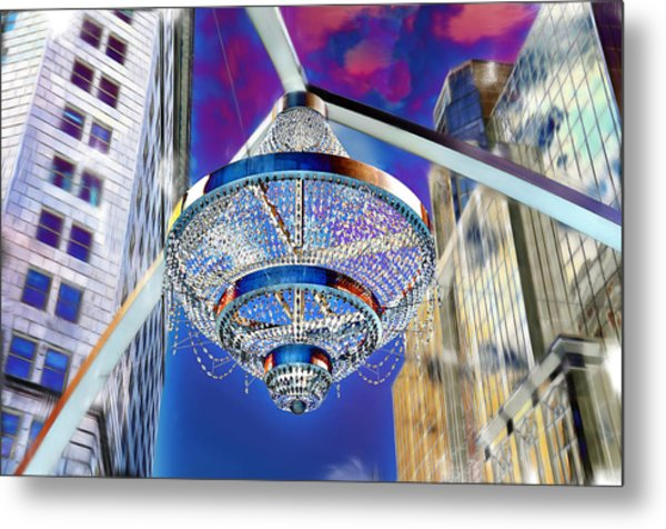 Cleveland Playhouse Square Outdoor Chandelier - 1 Metal Print