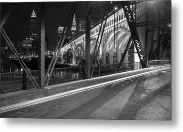 Cleveland Swing Bridge Skyline Metal Print