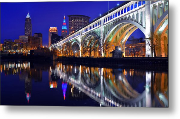 Cleveland Ultra-rez Panoramic Metal Print