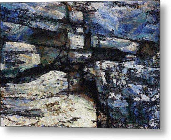 Cliff Abstract Metal Print by Gun Legler