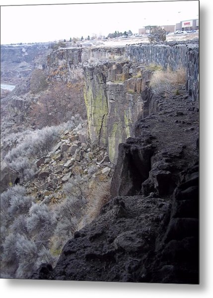 Cliff Metal Print by Angela Stout