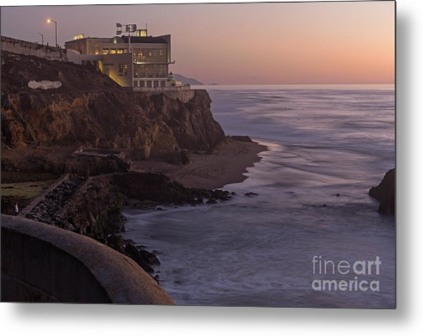 Cliff House Sunset Metal Print