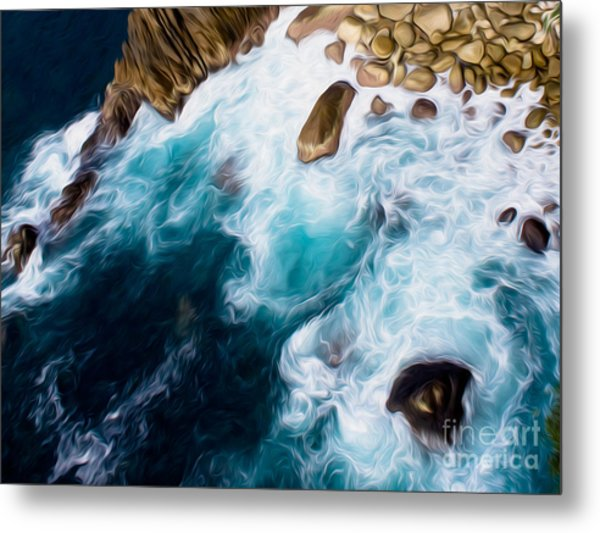 Cliffs In Acapulco Mexico II Metal Print