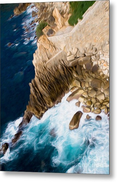 Cliffs In Acapulco Mexico Ill Metal Print