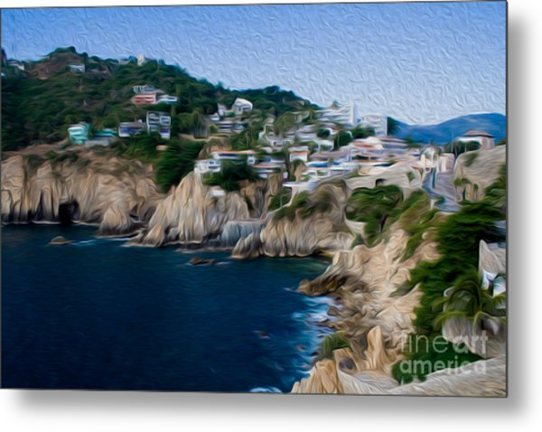 Cliffs In Acapulco Mexico I Metal Print