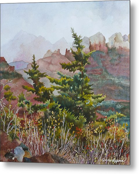 Cliffs Near Sedona Metal Print