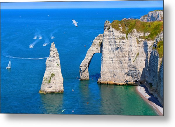 Cliffs Of Etretat France Metal Print