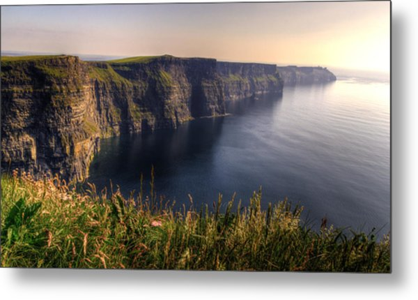 Cliffs Of Moher Distant Sunset Metal Print