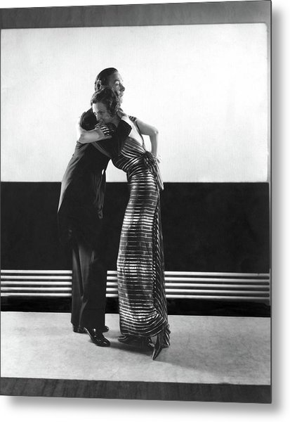 Clifton Webb And Irene Castle Dancing Metal Print by Edward Steichen
