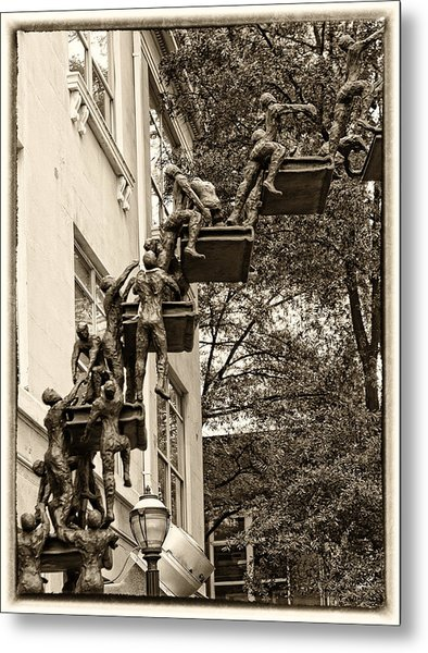 Climb With Care And Confidence Metal Print
