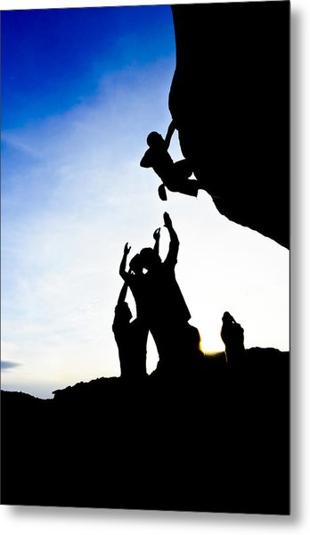 Climber Silhouette 3 Metal Print by Chase Taylor