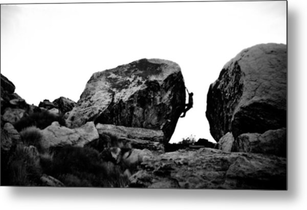 Climber Silhouette 4 Metal Print by Chase Taylor