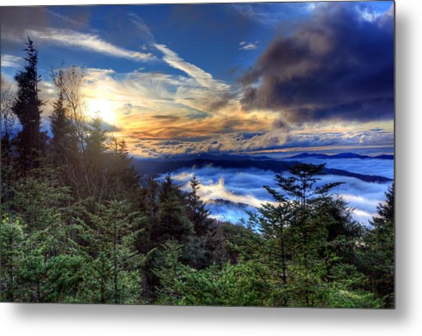 Clingman's Dome Sunset Metal Print by Doug McPherson