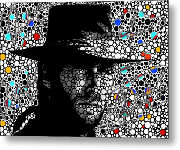 Clint Eastwood Cowboy Art Metal Print