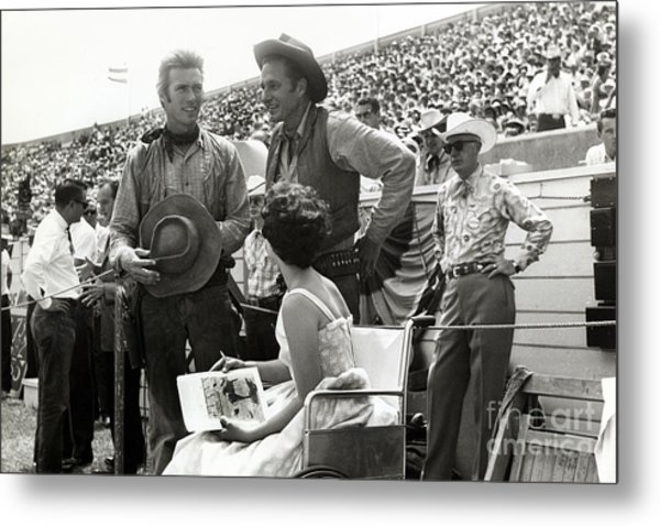 Clint Eastwood  Eric Fleming Characters Rowdy Yates Salinas California 1962 Metal Print