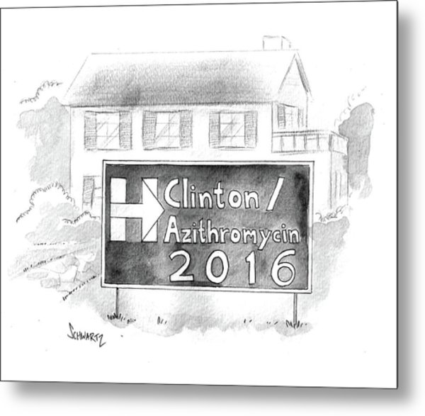 Clinton/azithromycin Metal Print
