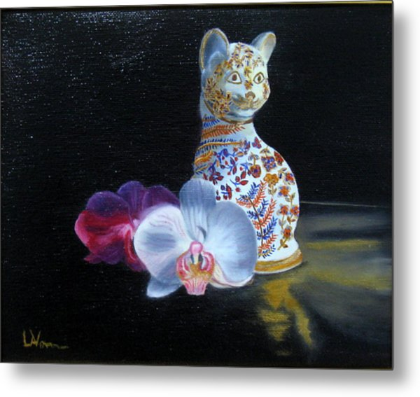 Cloisonne Cat Metal Print
