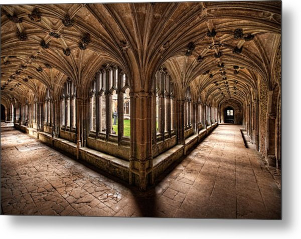 Cloisters At Lacock Abbey Metal Print