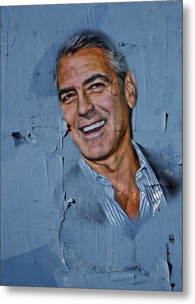 Clooney On Board Metal Print