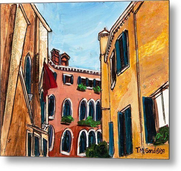 Metal Print featuring the painting Close Quarters by TM Gand
