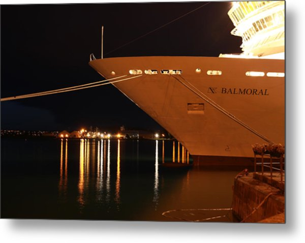 Close Up Cruise Liner At Cobh In Co. Cork Metal Print by Maeve O Connell