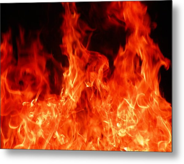 Close-up Of Fire Metal Print by Alex Henley / Eyeem