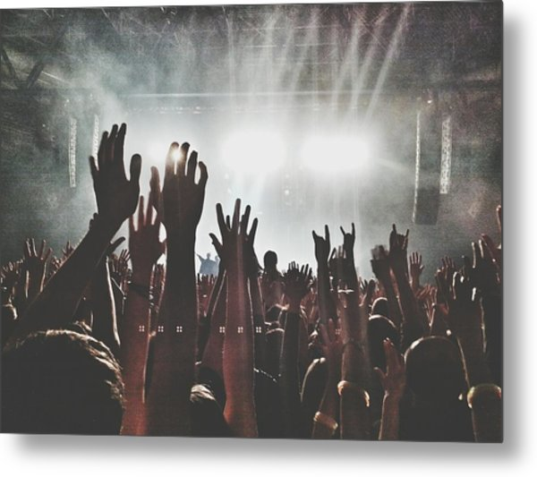 Close-up Of Hands Raising Against Metal Print by David Krämer / Eyeem