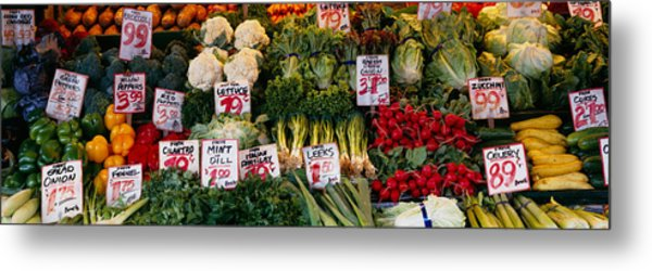 Close-up Of Pike Place Market, Seattle Metal Print