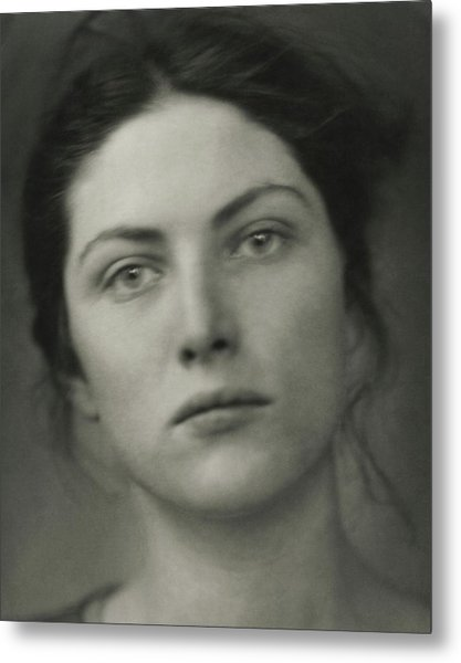 Close-up Portrait Of Winifred Lenihan Metal Print