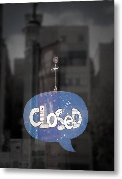 Closed Sleep Tight Metal Print