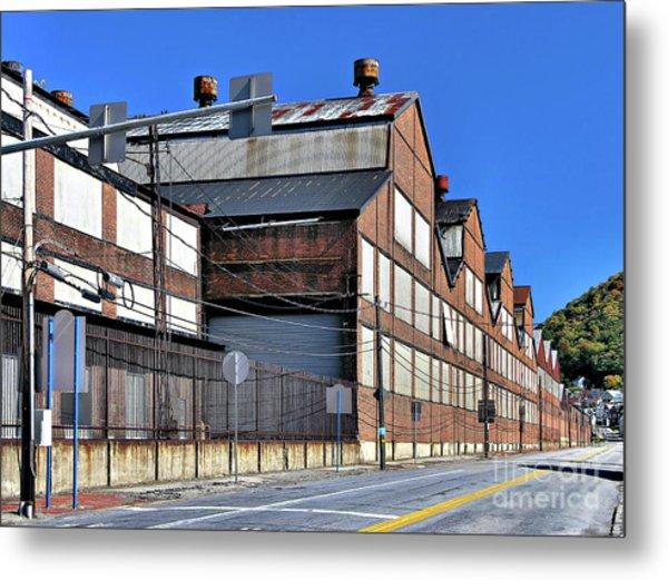 Closed Steel Mill Metal Print