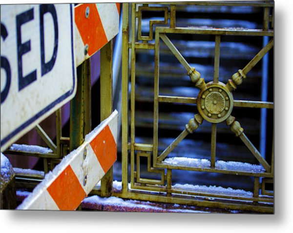 Closed Walkway Metal Print