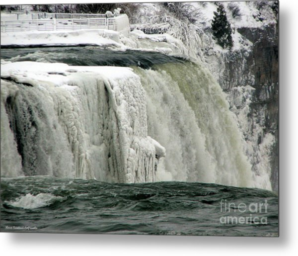 Metal Print featuring the photograph Closeup Of Icy Niagara Falls by Rose Santuci-Sofranko