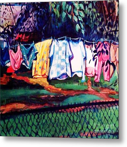 Clothing Line Metal Print
