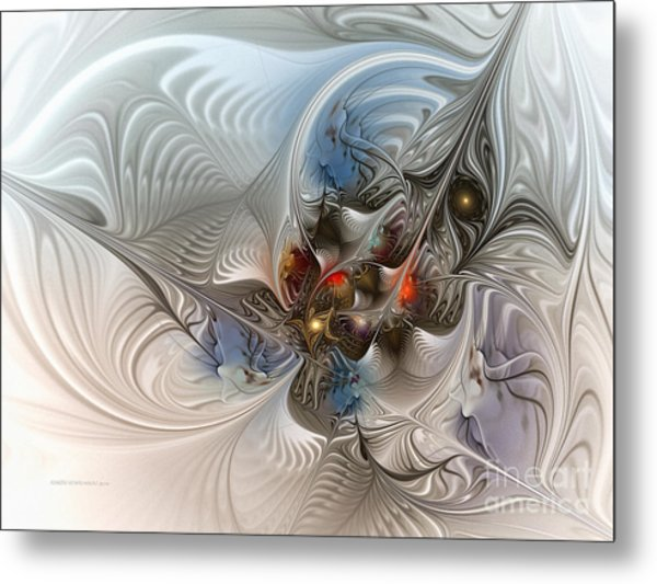 Cloud Cuckoo Land-fractal Art Metal Print