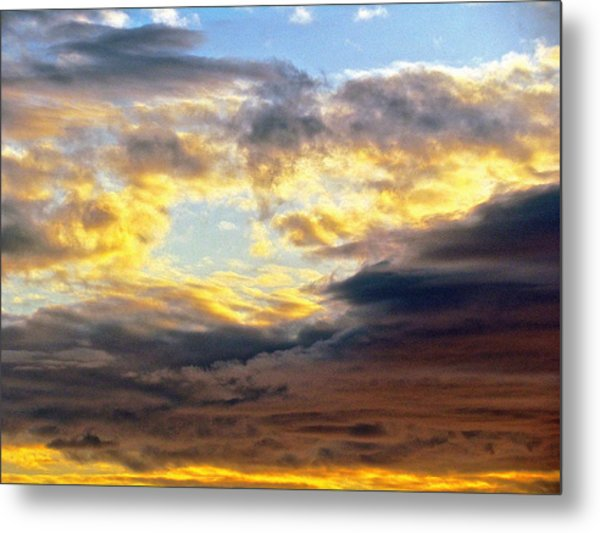 Cloud Finds Day Metal Print by Q's House of Art ArtandFinePhotography