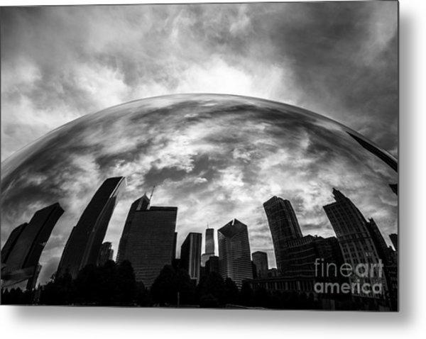 Cloud Gate Chicago Bean Metal Print