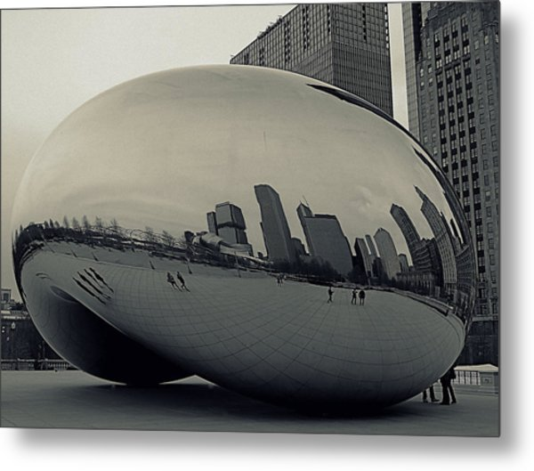 Cloud Gate Metal Print