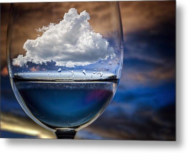 Cloud In A Glass Metal Print