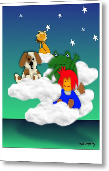 Cloud Kids Metal Print by Bob Winberry