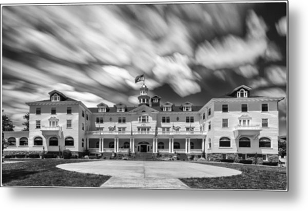 Cloud Painting At The Stanley Hotel Metal Print