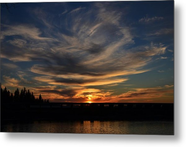 Cloud Swirl Sunset Metal Print