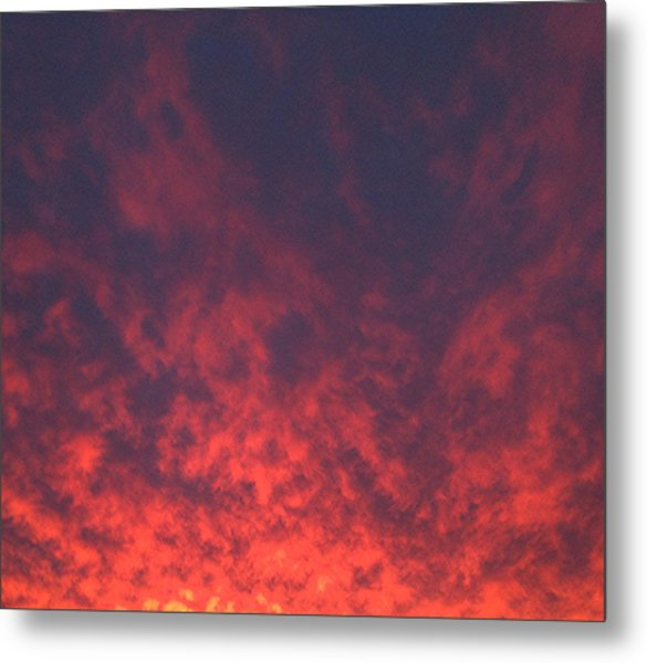 Clouds Ablaze Metal Print