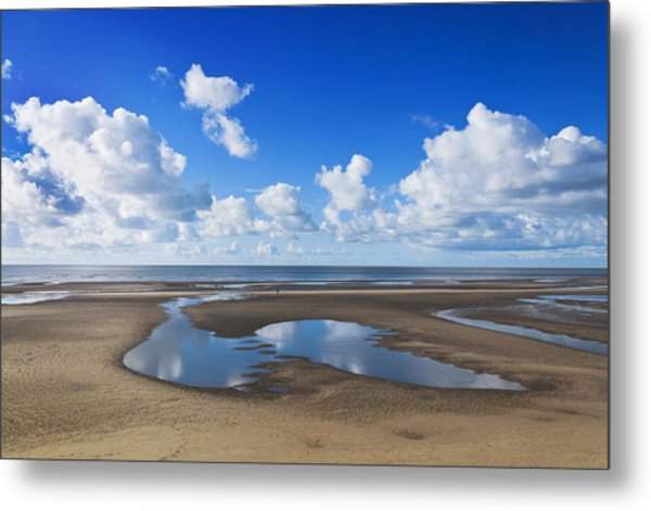 Clouds Across The Beach Metal Print