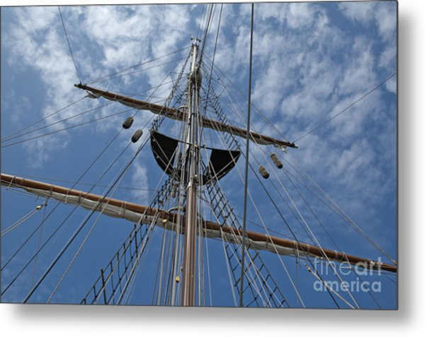 Clouds And Mast Metal Print