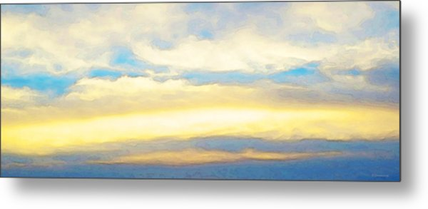Clouds By Sharon Cummings Metal Print by Abstract Art