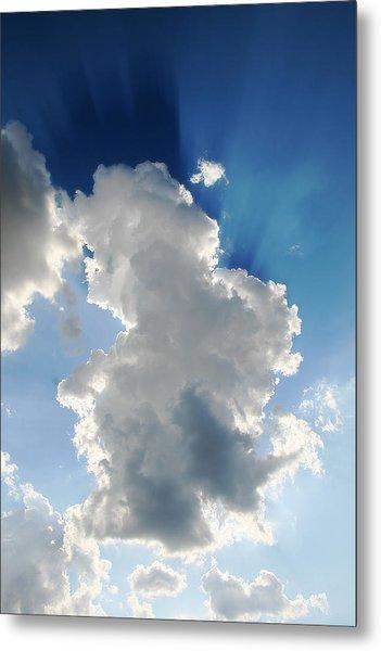 Clouds In The Sun Metal Print